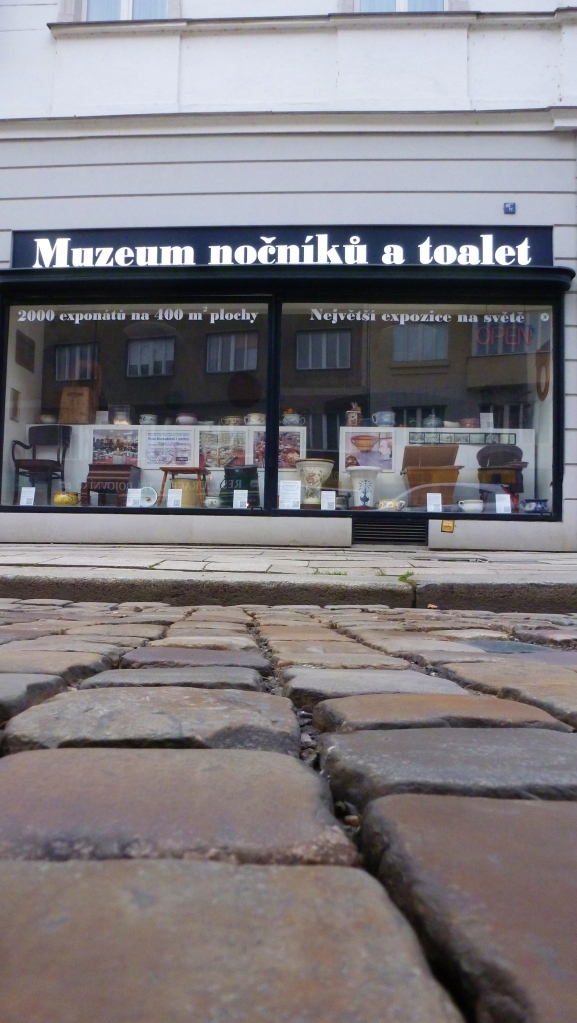 The cobbles in front of the toilet museum are some of the... in town.